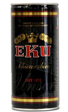 德国黑啤酒 EKU伊凯优黑啤 进口德国啤酒 1升