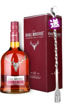 洋酒烈酒Dalmore帝摩达尔摩12年单一麦芽威士忌 甑品酒业