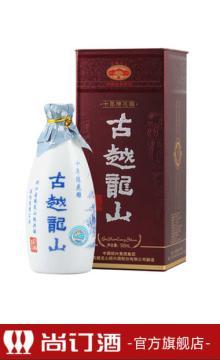 古越龙山 绍兴黄酒 纸盒十年陈酿花雕酒500ml