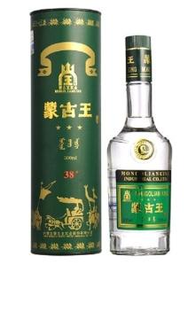 38°蒙古王酒 绿桶 500ml