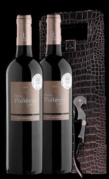 【中级庄礼盒】普瓦图庄园干红葡萄酒2支装(赠皮制礼盒+酒刀)